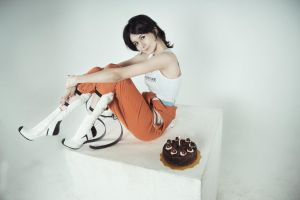 test subject Chell :: Portal 2 by GlamForUs