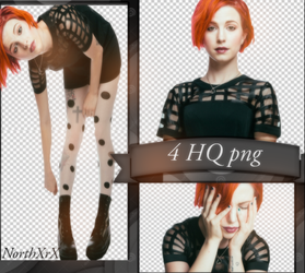 Hayley Williams PNG PACK by NorthXrX