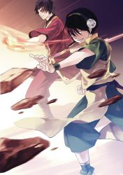 Toph and Zuko by yoeah