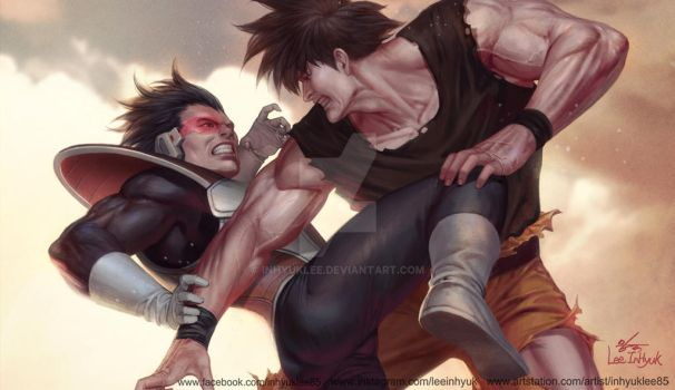 Songoku vs Vegeta by inhyuklee