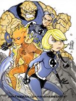 Fantastic four colors by scarecrowhassan