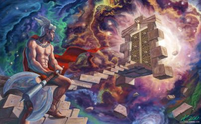 Stairway To The Cosmic Gate by calabresearts