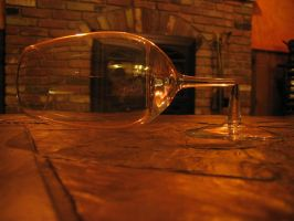 Wineglass with Snapped Stem by Qrystal