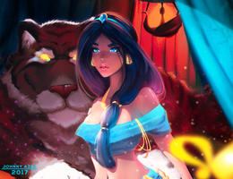 Jasmine and Her Kitty by JohnnyAzad