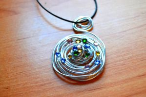 Rolled Drops Pendant by MissVulture93