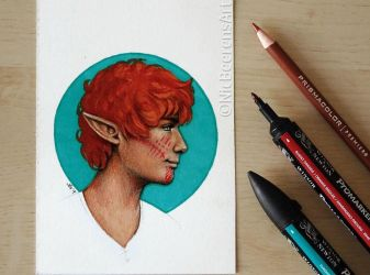 Inktober day 4: Basil Lavellan by Cataclysm-X