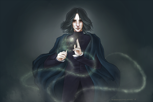 HP: Snape (redrawn) by nymphvt