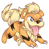 058 - Growlithe by RuizaUniverse