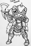 Inktober 2017 Day 11 - Thrall Warrior by binkibonsai