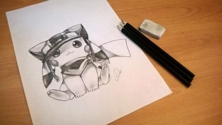 Cutest Pikachu Drawing Ever by ZeroFoxFaceless