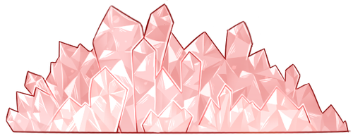 Decorative Crystals (Pink - F2U!) by DominickLuhr