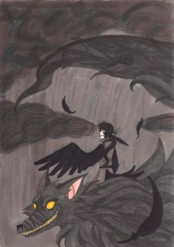 Crow and The Storm by Jeevana
