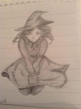 Little witch girl by Gaboob23