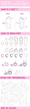 tuto - how to draw feet? by the-evil-legacy