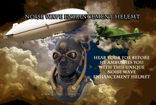 Noise Wave Enhancement Steampunk Helmet by nemesisnow23