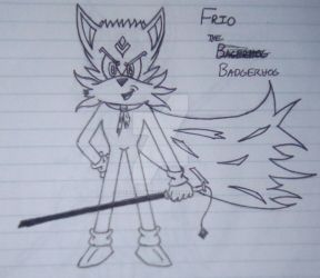 Frio the Badgerhog (Redesign) by TheAvatarPrince