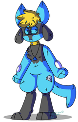 COMMISSION | Sky The Riolu by Tiggsy-goo