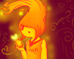 Flame princess  by Layneon