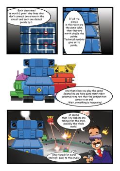 Tiny Robots comic, page 2. by Master-of-Onion