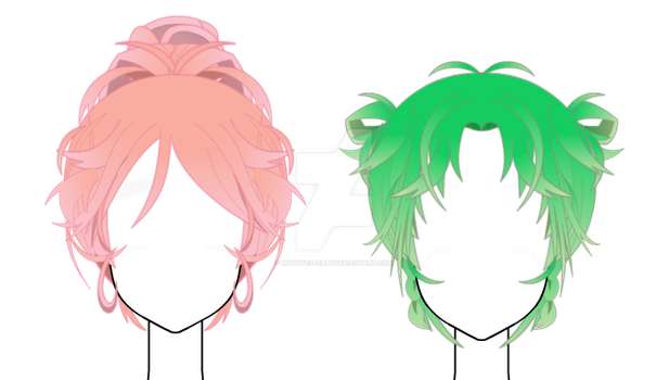 Gradient Hair Exports {Kisekae} by PandaHero2011