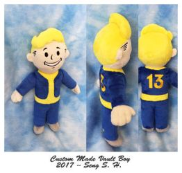 Custom made vault boy plushie by sewcuteplushies