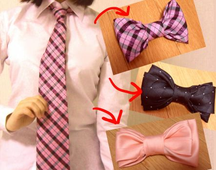 turning ties into bows (tutorial inside) by minicuteclub
