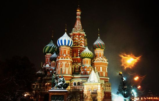 Moscow temple in winter by OpNik