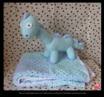 Dinosaur and Baby Blanket by UnicornReality