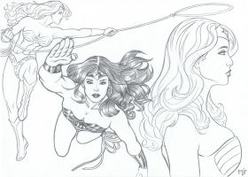 Wonder Woman Sketches by mikepacker