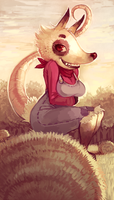 Poppy Opossum by cassetterecorder
