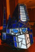 Optimus Prime Stained Glass Helmet Desk Lamp + by mclanesmemories