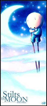 stilts to moon by isip-bata