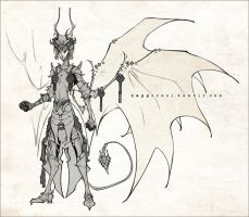 Demons and Other Ilk: Warrior King Asmodeus by deerlordhunter