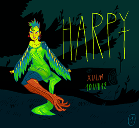 Monstergirl challenge #1 (Harpy) by xulm