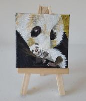 Tiny Panda Parent Painting.. View 2 by DorysStories