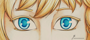 [OC APH] Eyes of young Alaska by Kei2000
