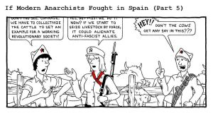 If Modern Anarchists Fought in Spain (Part 5) by RednBlackSalamander