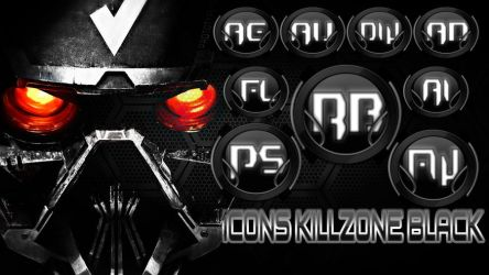 Icons Killezone Black  For Dock Psd by THERECORDBLACK01