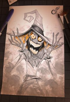 The Scarecrow - Inktober Day 5 by Curly-Artist
