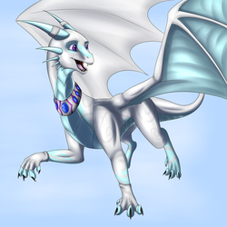Dragon With Collar (commision) by Tomek1000