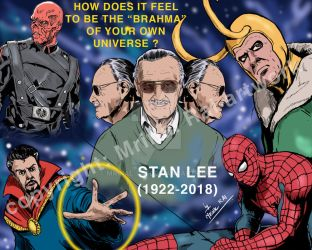 Remembering Stann Lee as the Brahma for Marvel by mrinal-rai