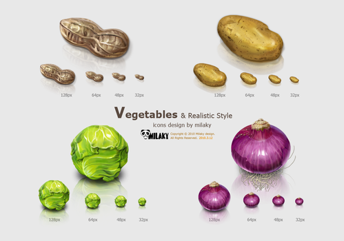 Vegetables icons by Milaky
