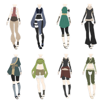 Naruto Outfit Adoptables 9 [CLOSED] // lower price by xNoakix3