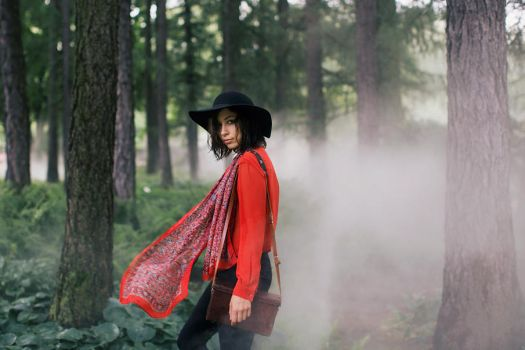 Alina and foggy forest by Lucem
