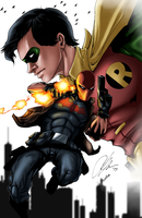 Jason Todd - Red Hood COLLABORATION by AustinToya