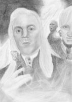 Lucius and Draco Malfoy by Michelles-Stuff