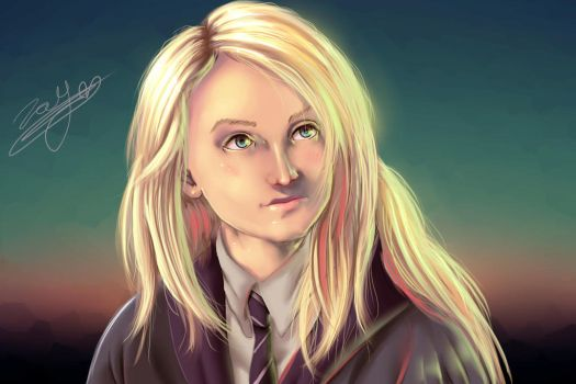Luna Lovegood - Digital Drawing by Gray-Dous