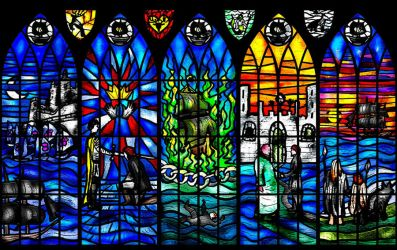 Davos Seaworth Stained Glass Window by guad