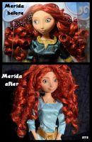repainted ooak merida doll. - wild hair. by verirrtesIrrlicht