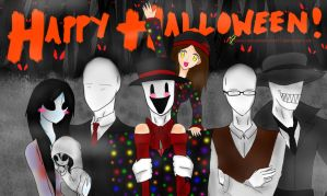 HAPPY HALLOWEEN~! From: Me and the Slender Family by JaxAugust